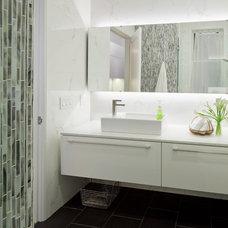 Modern Bathroom by Three Legged Pig Design