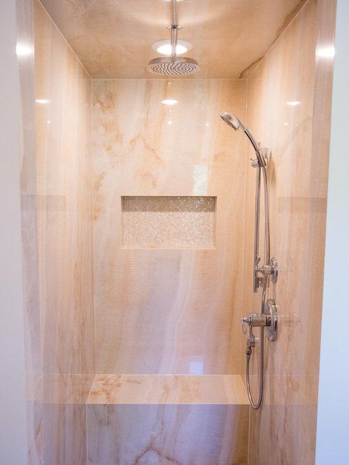 foto de cuarto de bao rural de tamao medio con ducha abierta baldosas with azulejos bao rustico - Azulejos De Cuarto De Bao