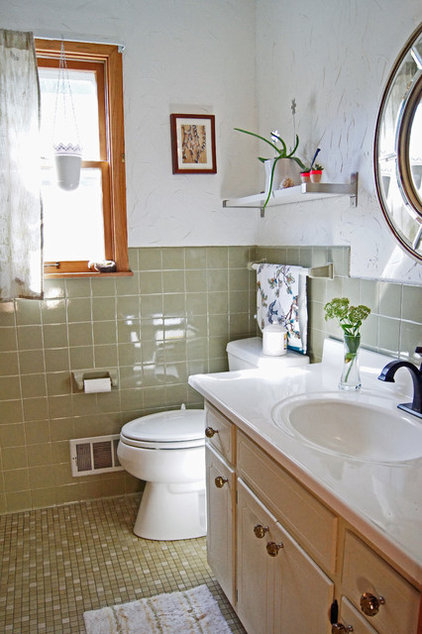 Transitional Bathroom by Wind and Willow Home