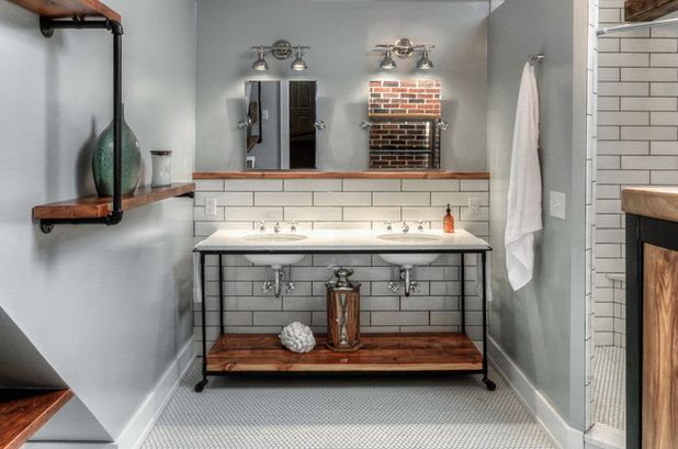 Industrial Bathroom by Bearded Builders
