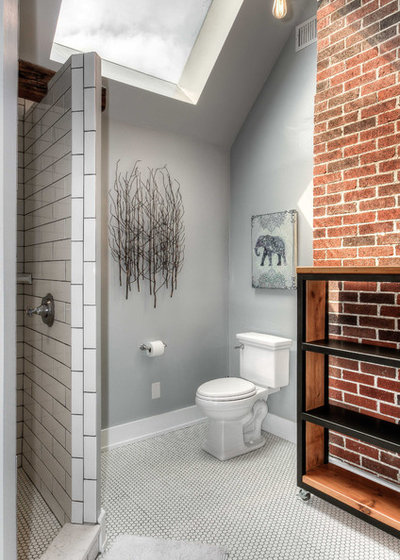 Transitional Bathroom by Bearded Builders