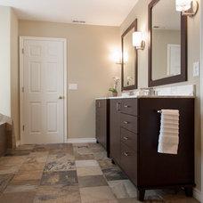 Contemporary Bathroom by Janel Campbell, CKD,CBD,CAPS/Neil Kelly Company