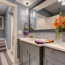 Transitional Bathroom by KBI Interior Design Studios