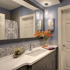 Traditional Bathroom by KBI Interior Design Studios