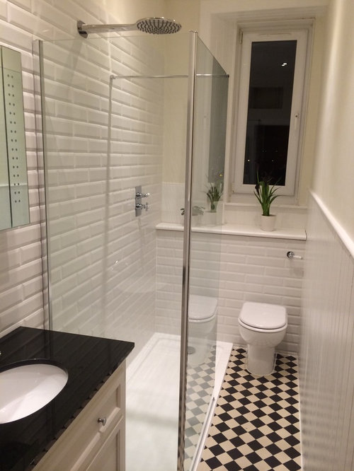 Small shower room design houzz for Tiny shower room design