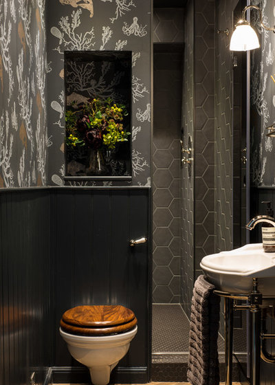 Transitional Bathroom by Lally Walford Interiors