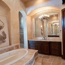 Mediterranean Bathroom by Iron Gate Build and Design Inc.