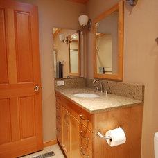 Transitional Bathroom by Greene Designs LLC