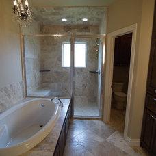 Transitional Bathroom by Edwards Custom Homes