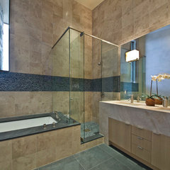 contemporary bathroom by Robyn Scott Interiors, Ltd.