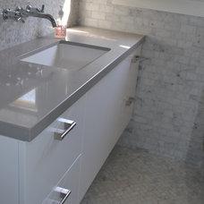 Contemporary Bathroom by J & C Custom Cabinets Inc.