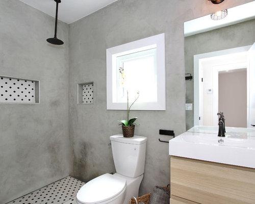 kleine badezimmer mit urinal ideen design bilder houzz. Black Bedroom Furniture Sets. Home Design Ideas