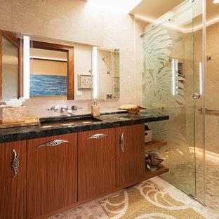 Elegant Beach Style Guest Bathroom Maui Remodel