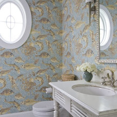Beach Style Bathroom by Erin Paige Pitts Interiors