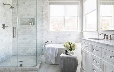 Marble Tile Brings Spa-Like Luxury to a Master Bath