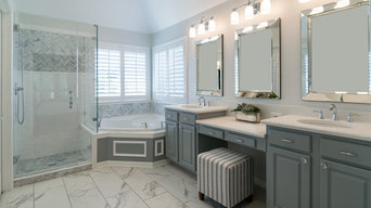 Elegant Gray & White Bathroom Remodel