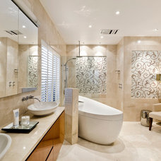 Transitional Bathroom by Highgate House