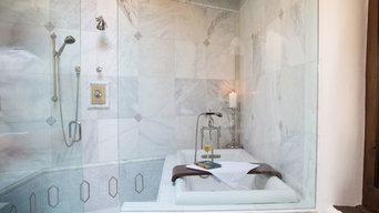 Elegant Marble Bath Santa Fe, NM