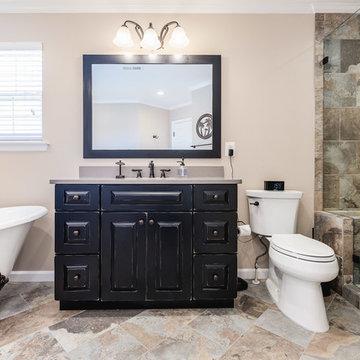 Elegant Master Bathroom with Clawfoot Bathtub