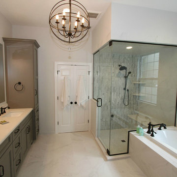 Elegant Master with Marble Tile and Steam Shower