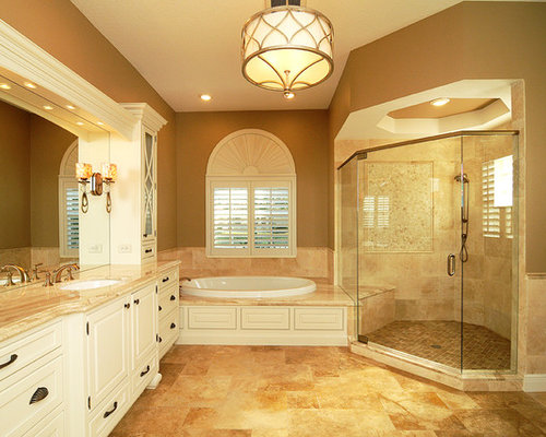 Elegant master bath home design ideas renovations photos for Elegant master bathroom ideas