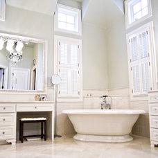 Traditional Bathroom by Village Interior Design LLC