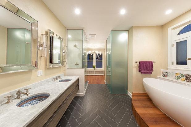 Transitional Bathroom by Chi Renovation & Design