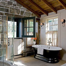 Rustic Bathroom by Sargent Design Company