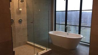 Elegant Shower Enclosure and Glass Door