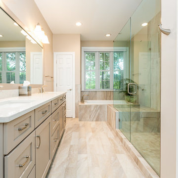 Elegant Traditional Master Bathroom and Kitchen Remodel