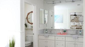 Elegant White Bathroom Remodel