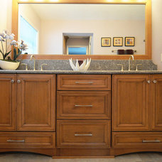 Traditional Bathroom by Krista Agapito - S&W Kitchens, Inc.