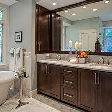 Traditional Bathroom by Allard & Roberts Interior Design, Inc