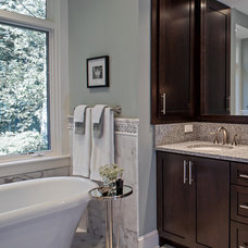 Traditional Bathroom by Allard & Roberts Interior Design, Inc