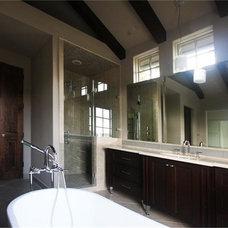 Transitional Bathroom by Design DCA
