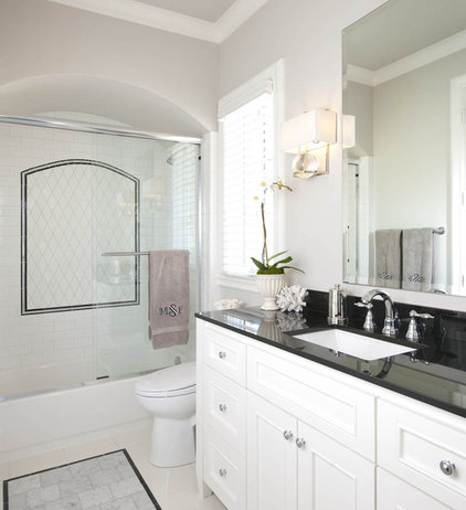 Transitional Bathroom by Ellen Grasso & Sons, LLC
