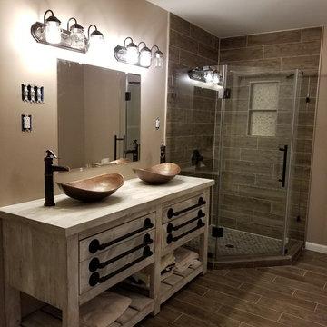 Ellicott City Rustic Bathroom Remodel