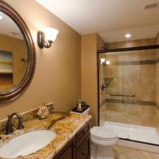 Contemporary Bathroom by Synergy Builders Inc.