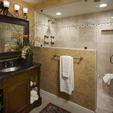 Traditional Bathroom by Anne Rue Interiors