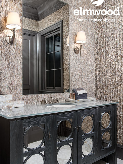 Example Of A Cottage Chic Bathroom Design In Denver
