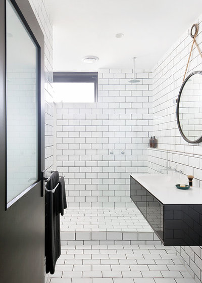 Contemporary Bathroom by Kate Challis Interiors