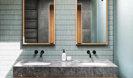 Room of the Week: A Textured and Tonal Bathroom in Gentle Green