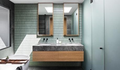 Badeværelse uden klassiske vinduer – med fantastisk lysindfald!