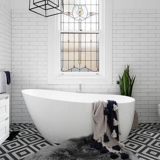 Transitional bathroom in Melbourne.