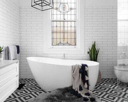 transitional bathroom in melbourne