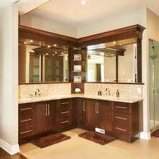 Transitional Bathroom by Sanchez Homes