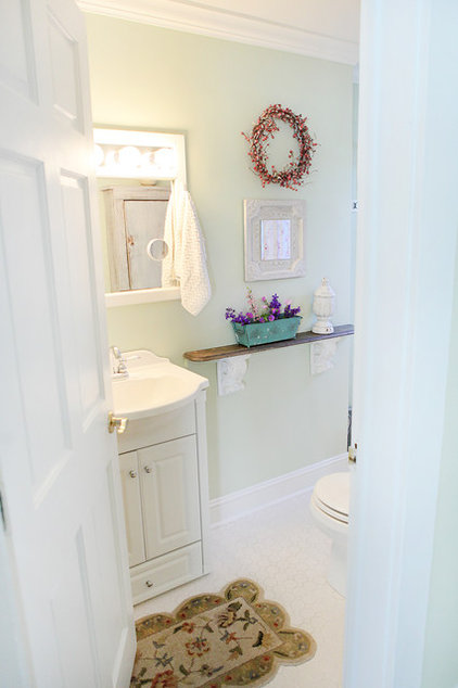 Traditional Bathroom by Julie Ranee Photography