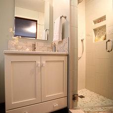 Transitional Bathroom by Provanti Designs, Inc