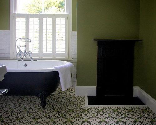 Piastrelle bagno verdi immagine di una stanza da bagno con doccia