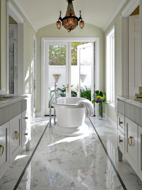 Marble floor borders houzz for Floor tiles border design